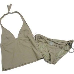 Calvin Klein NWT Halter Cami Swimsuit 12 14